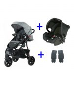 Wanderer X 3 Stroller & One Safe Capsule Combination